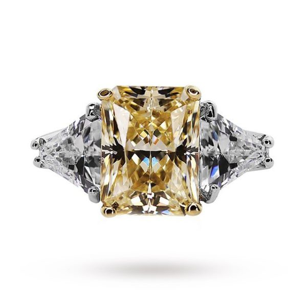 Carat Canary Yellow Coloured Gemstone Ring Set In 9 Carat ... loving the sales