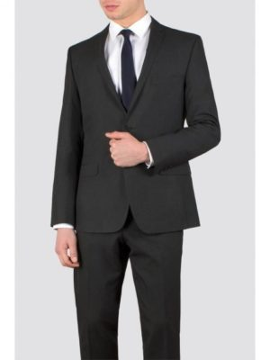 Charcoal Plain Weave Slim Fit Suit Jacket 36r Charcoal loving the sales