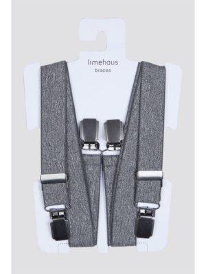 Limehaus Grey Marl Braces 0 Grey loving the sales