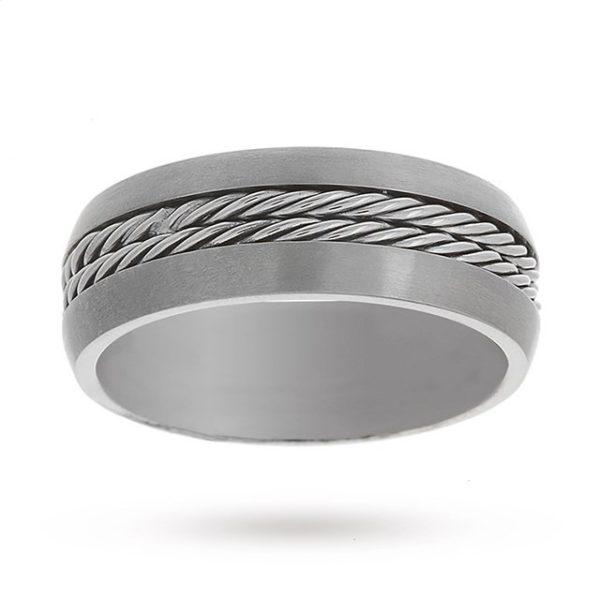 Mens 7mm Titanium Rope Ring - Ring Size Q loving the sales