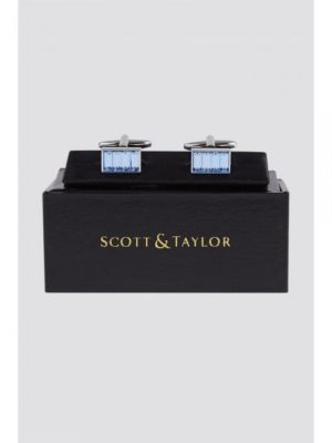 Scott  Taylor Blue Diamante Cufflinks 0 Blue loving the sales
