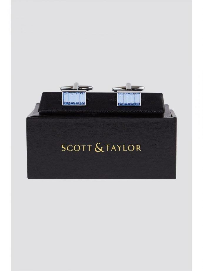 Scott  Taylor Blue Diamante Cufflinks 0 Blue loving the sales