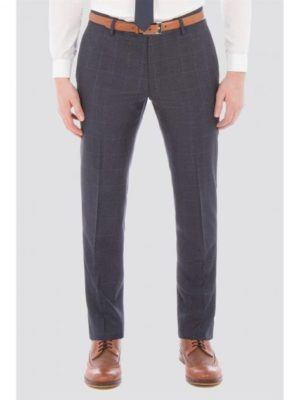 Slate Blue Jaspe Windowpane Check Trouser 30r Blue loving the sales