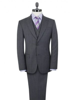 Stvdio Grey Purple Overcheck Peak Lapel Suit Jacket 40l Grey loving the sales