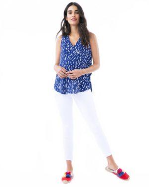 Amanda-Blue Raindrop Nursing And Maternity Top loving the sales