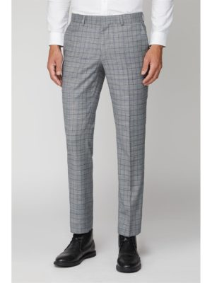 Ben Sherman Cool Grey Blue Check Trouser 34r Grey loving the sales