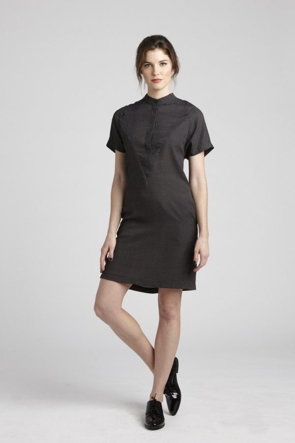 The Erin Short Sleeve Dress - Half Button Down loving the sales
