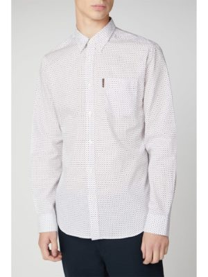 Ben Sherman Long Sleeve Contrast Spot Print Shirt 4xl White loving the sales