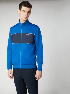 Blue & Navy Block Striped Tricot Top | Ben Sherman | Est 1963 - Xs loving the sales