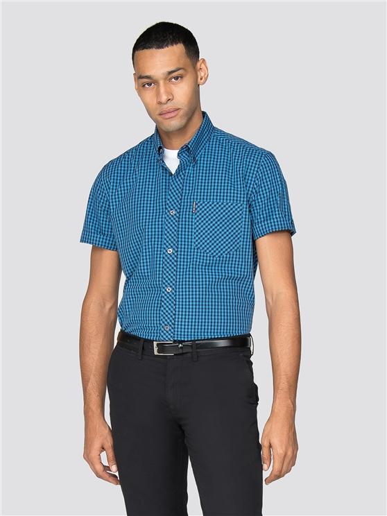 Men's End On End Blue Gingham Shirt   Ben Sherman   Est 1963 - Small loving the sales