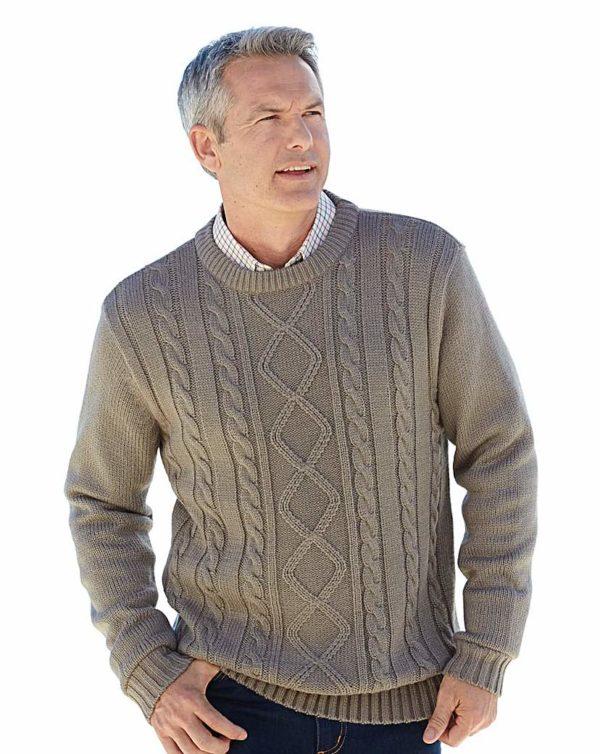 Premier Man Aran Crew Neck Sweater loving the sales