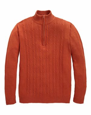 Southbay Zip Neck Cable Sweater loving the sales