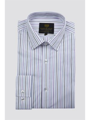 Scott  Taylor White Alternate Stripe Shirt 16 White loving the sales