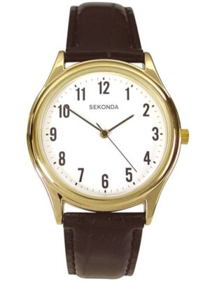 Sekonda Mens Gold Plated Black Watch 3623 loving the sales