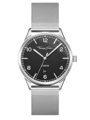 Thomas Sabo Code Ts Stainless Steel Black Dial Mesh Bracelet Watch Wa0339-201-203-40mm loving the sales