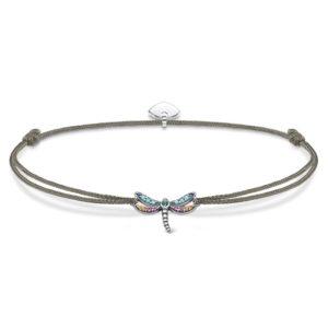 Thomas Sabo Sterling Silver Little Secret Multistone Dragonfly Grey Cord Bracelet Ls073-298-7-L20v loving the sales