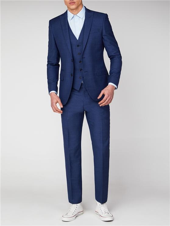 Blue Jaspe Slim Fit Suit Jacket   Ben Sherman loving the sales