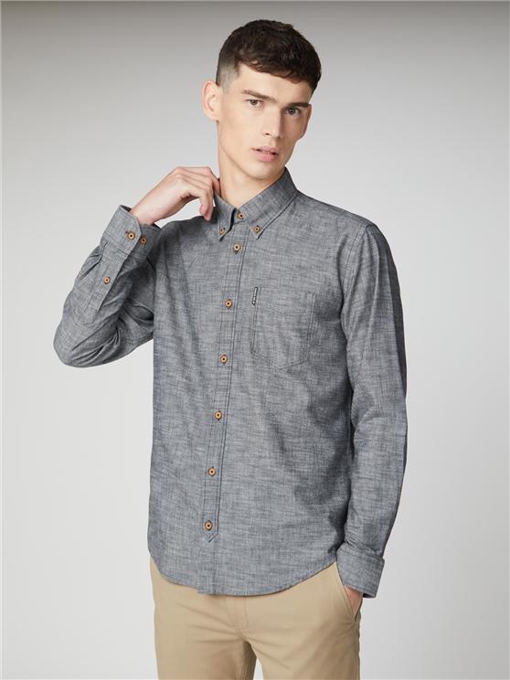 Men's Black Long Sleeved Chambray Shirt | Ben Sherman | Est 1963 - Xs loving the sales