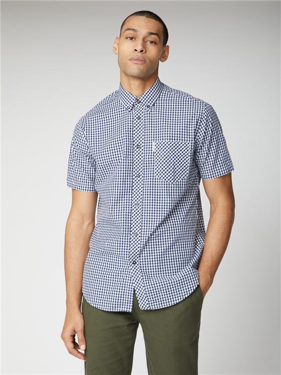 Men's Blue Short Sleeve Gingham Shirt | Ben Sherman | Est 1963 - Xs loving the sales