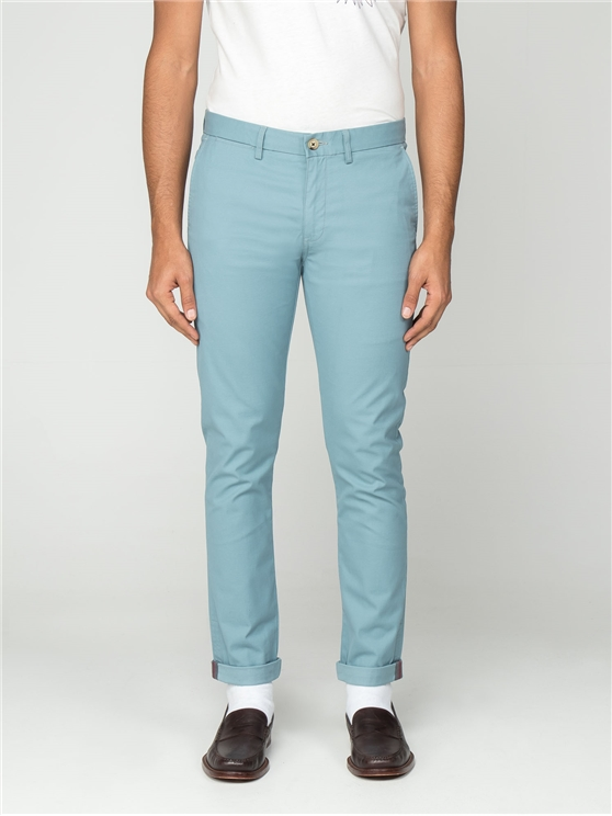 Men's Blue Skinny Fit Cotton Chinos   Ben Sherman   Est 1963 - 28r loving the sales