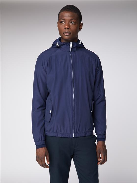 Men's Navy Blue Hooded Jacket | Ben Sherman | Est 1963 - Xs loving the sales