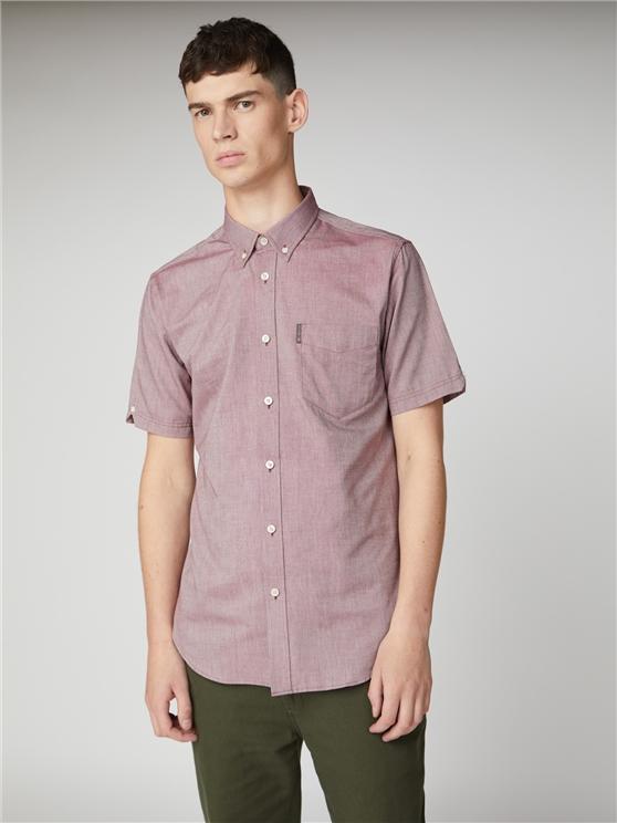 Mens Wine Red Short Sleeve Oxford Shirt | Ben Sherman | Est 1963 - Small loving the sales