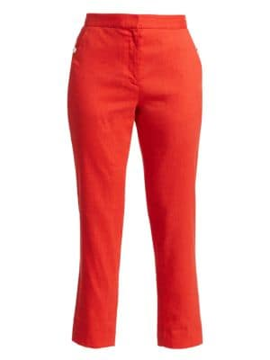 Poppy Linen-Blend Crop Trousers loving the sales
