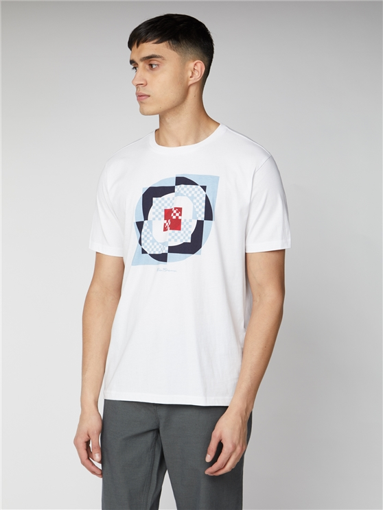 White Digital Target Print T-Shirt   Ben Sherman   Est 1963 - Xs loving the sales