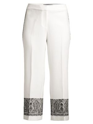 Zeina Embroidery Cropped Trousers loving the sales