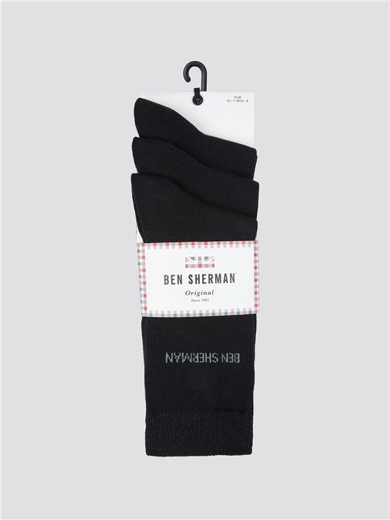 Ben Sherman 3 Pack Of Socks Black | Ben Sherman - 7-11 loving the sales