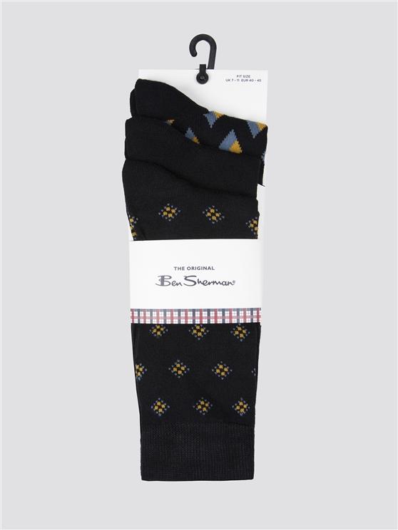 Ben Sherman 3 Pack Of  Socks. Black | Ben Sherman - 7-11 loving the sales