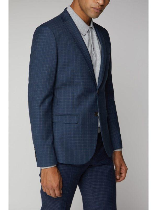 Ben Sherman Blue Micro Check Suit Jacket 38r Blue loving the sales