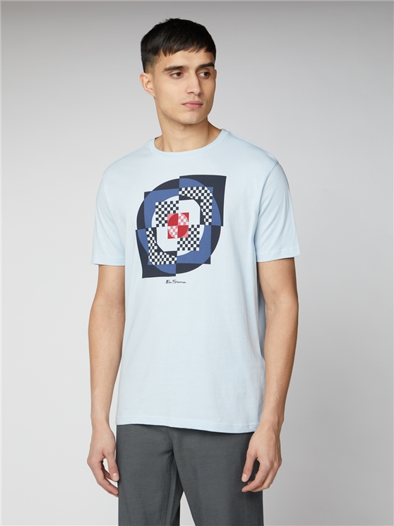 Blue Digital Target Print T-Shirt | Ben Sherman | Est 1963 - Xs loving the sales