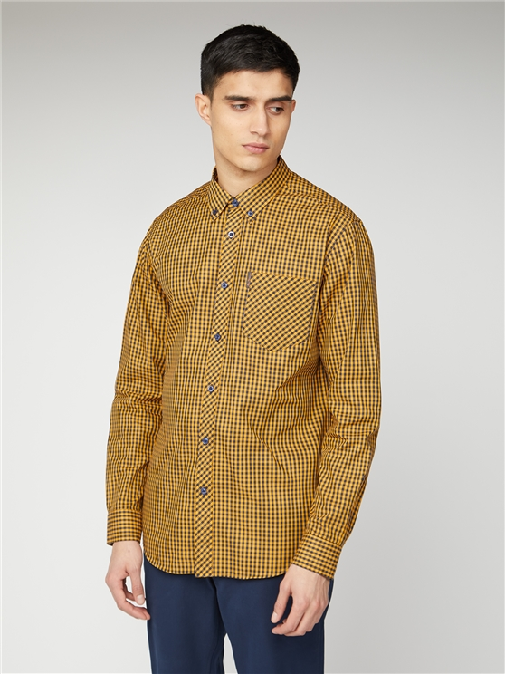 Blue & Yellow Checked Gingham Shirt | Ben Sherman | Est 1963 - Large loving the sales