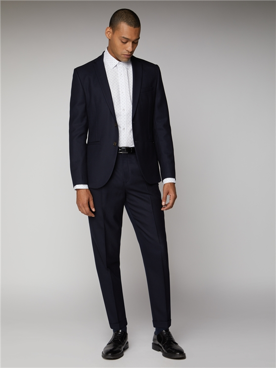 British Wool Structured Navy Blue Suit | Ben Sherman | Est 1963 loving the sales