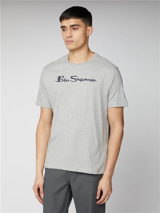Grey & Navy Signature Logo T-Shirt | Ben Sherman | Est 1963 - Xs loving the sales