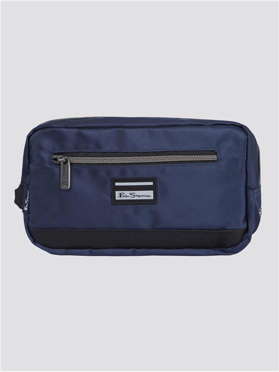 Men's Blue & Black Toiletry Wash Bag | Ben Sherman | Est 1963 - One Size loving the sales