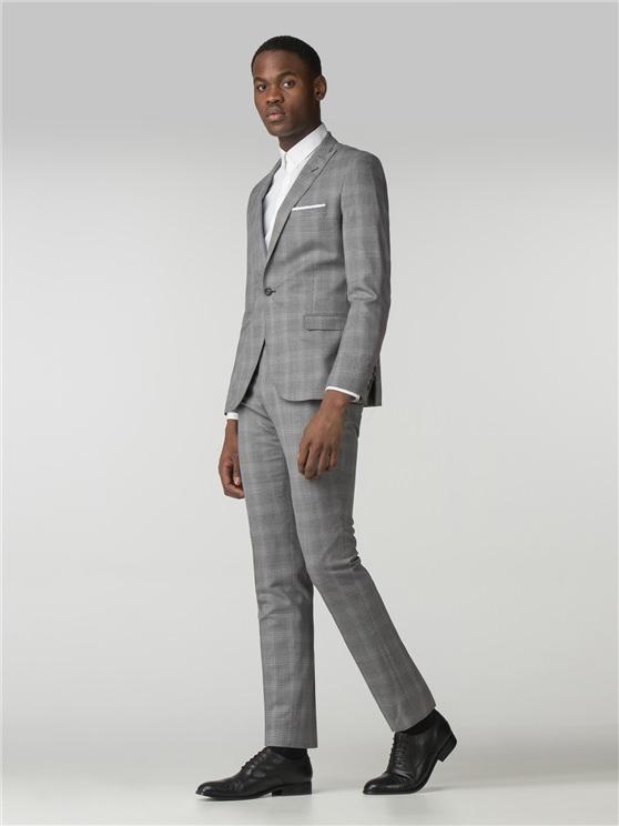 Men's Grey Blue Overcheck 2 Piece Suit | Ben Sherman | Est 1963 loving the sales