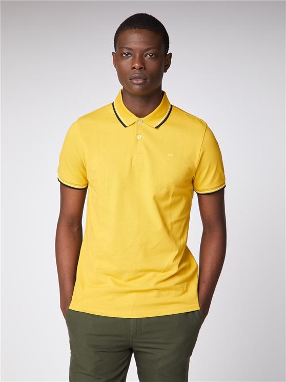 Mens Mustard Yellow Romford Polo Shirt | Ben Sherman | Est 1963 - Xs loving the sales