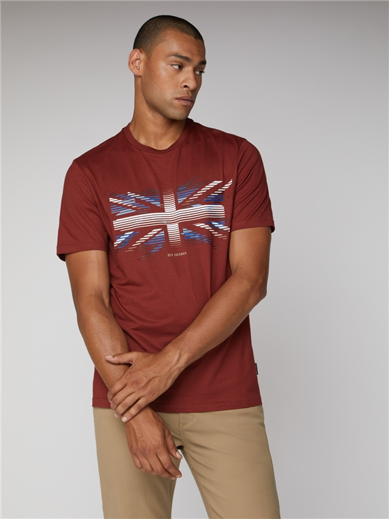 Men's Red Union Jack Striped Tee | Ben Sherman | Est 1963 - Small loving the sales