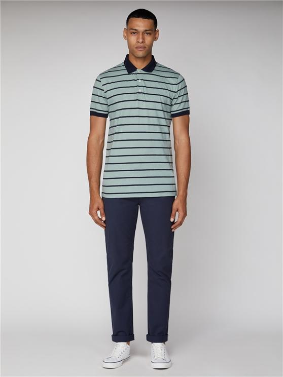 Men's Textured Blue Stripe Polo Shirt | Ben Sherman | Est 1963 - Small loving the sales
