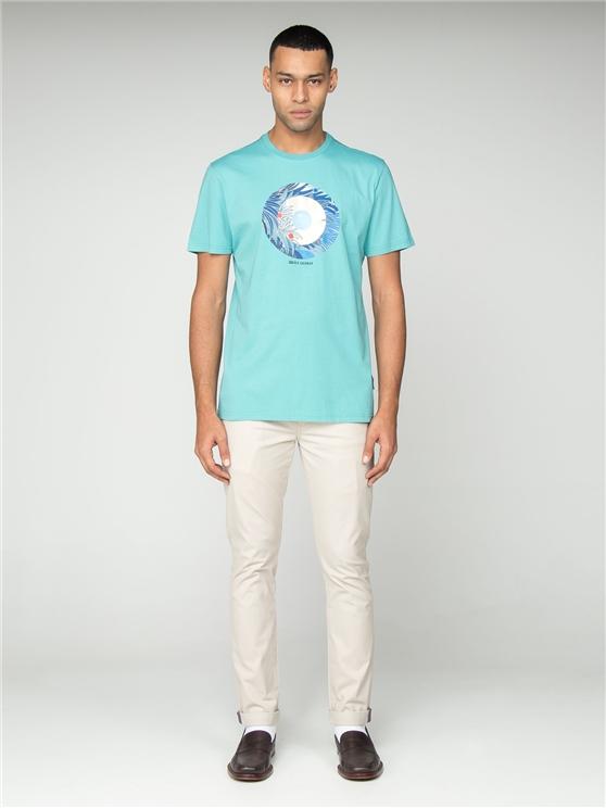 Men's Turquoise Tropical Target T-Shirt   Ben Sherman   Est 1963 - Small loving the sales