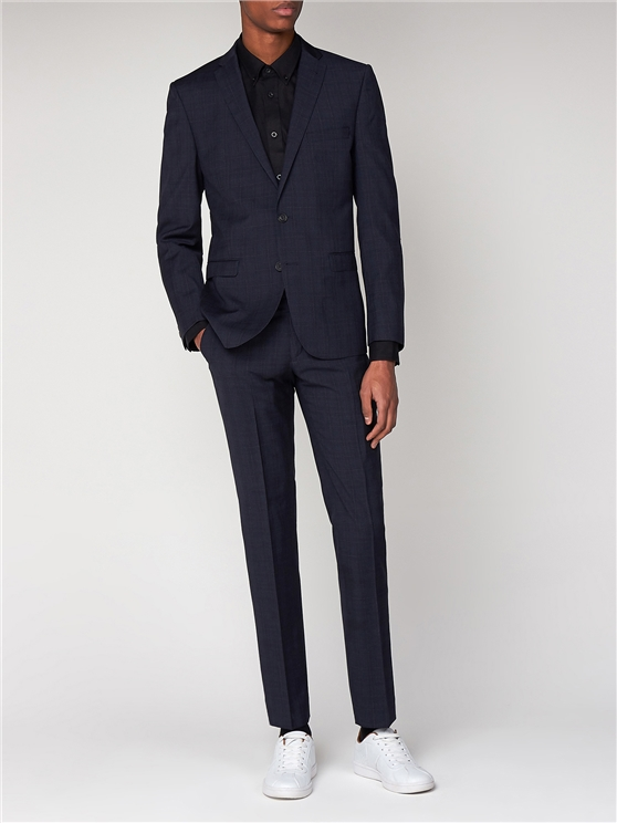 Midnight Navy Check Suit | Ben Sherman loving the sales