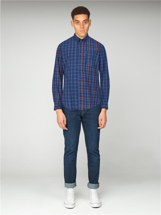 Mixed Check Shirt Navy | Ben Sherman - Small loving the sales