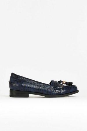 **Navy Tassle Loafer