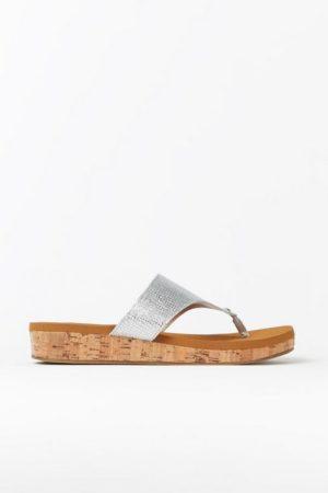 Silver Cork Flatform Sandal