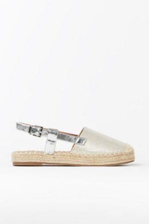 Silver Slingback Sandal