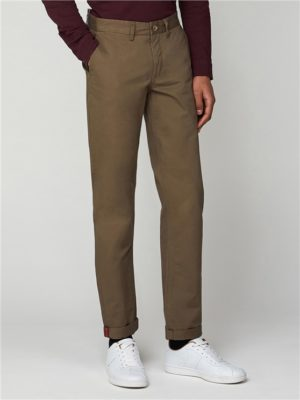 Slim Fit Chino Trousers Dull Harbour Green   Ben Sherman - 30l loving the sales
