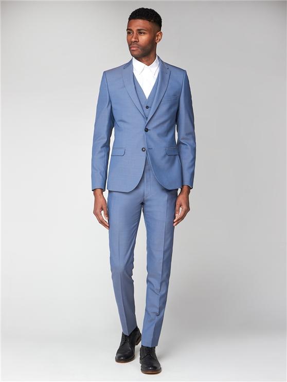 Smoke Blue Tonic Camden Three Piece Suit | Ben Sherman loving the sales