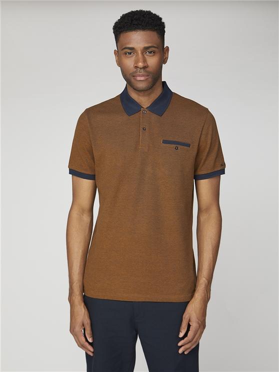 Two Tone Pique Polo Shirt Gold | Ben Sherman - Xs loving the sales